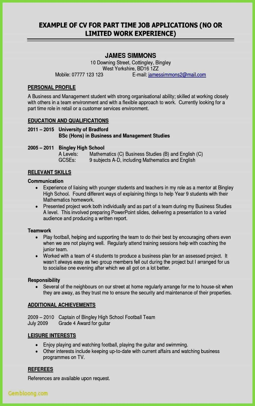 14 Awesome New Resume Template For College Student Hotel And