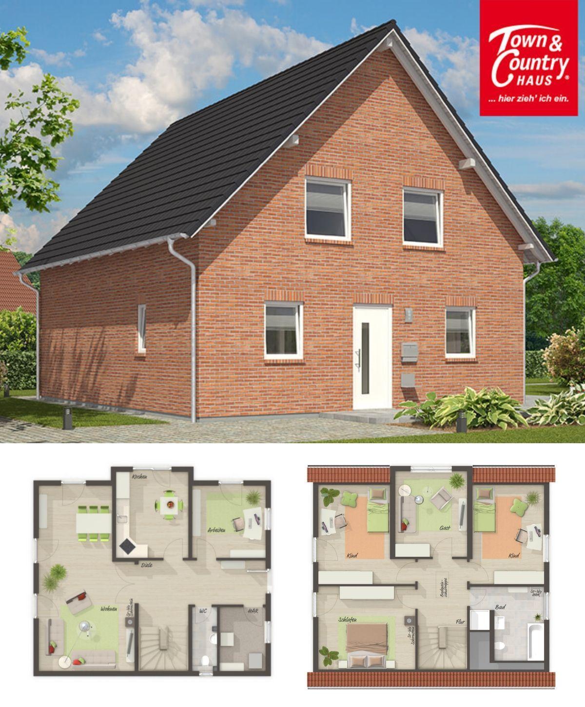 Einfamilienhaus Neubau klassisch mit Klinker Fassade