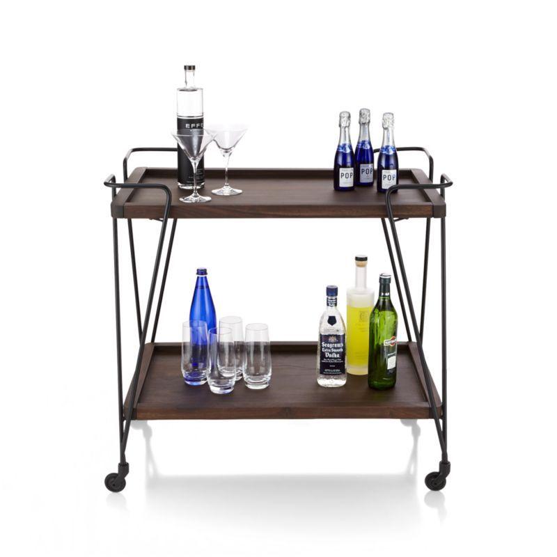 prost bar cart crate and barrel kitchen island bar crate and barrel bar cart on kitchen island ideas kitchen bar carts id=29433