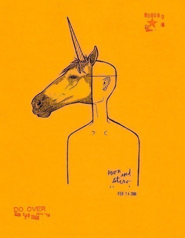 Unicorn Mask matty8080.etsy.com #anthropomorphic #animal #mask #drawing #AnimalMask #fantasy