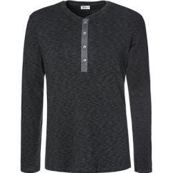 Photo of Schiesser Revival Herren Langarm-Shirt, Baumwolle, anthrazit meliert grau Schiesser