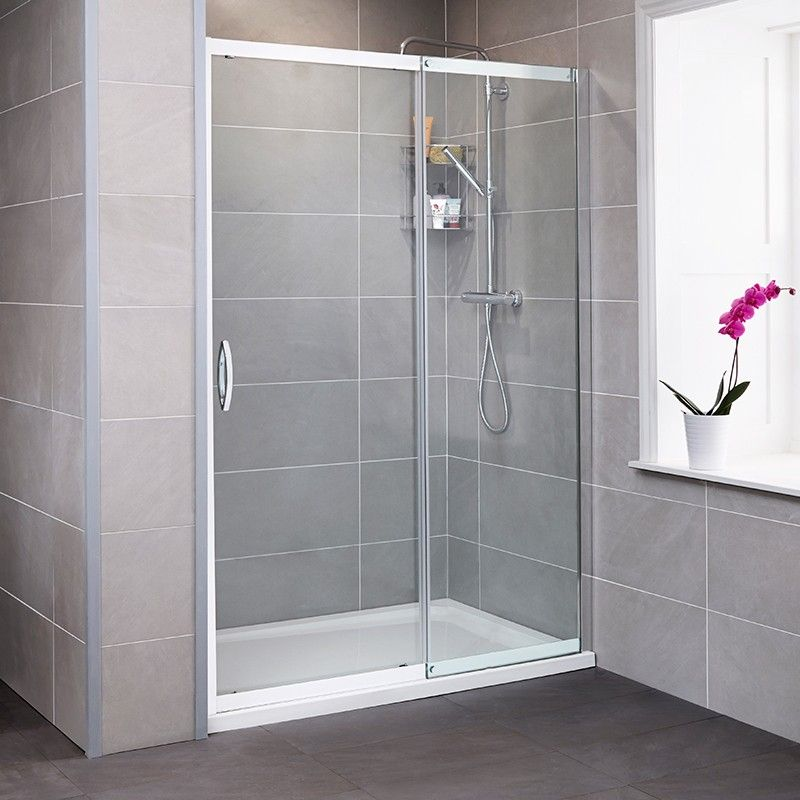 Aquafloe Iris 8mm 1200 X 800 Sliding Door Shower Enclosure With Ultralite Shower Tray Shower Doors Sliding Shower Door Shower Sliding Glass Door