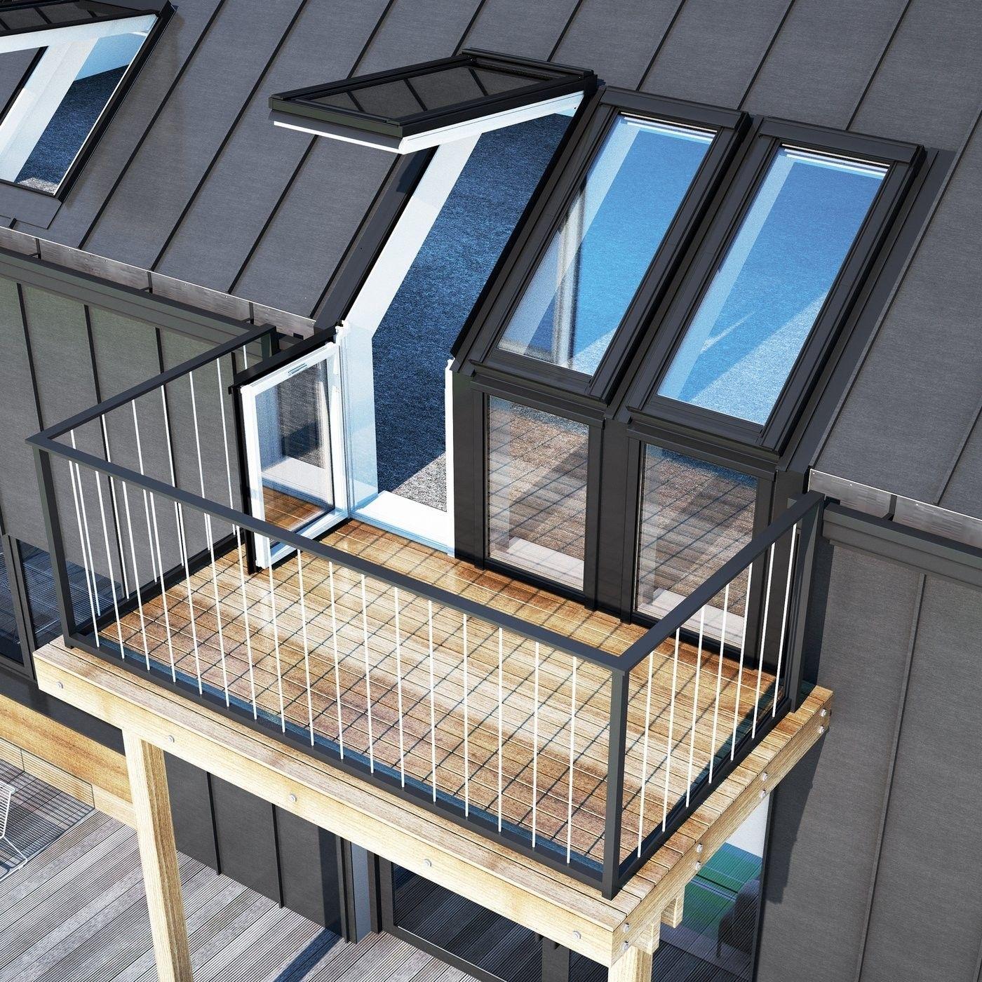 fenêtres de toit balcon  fenêtre de toit toit fenetre