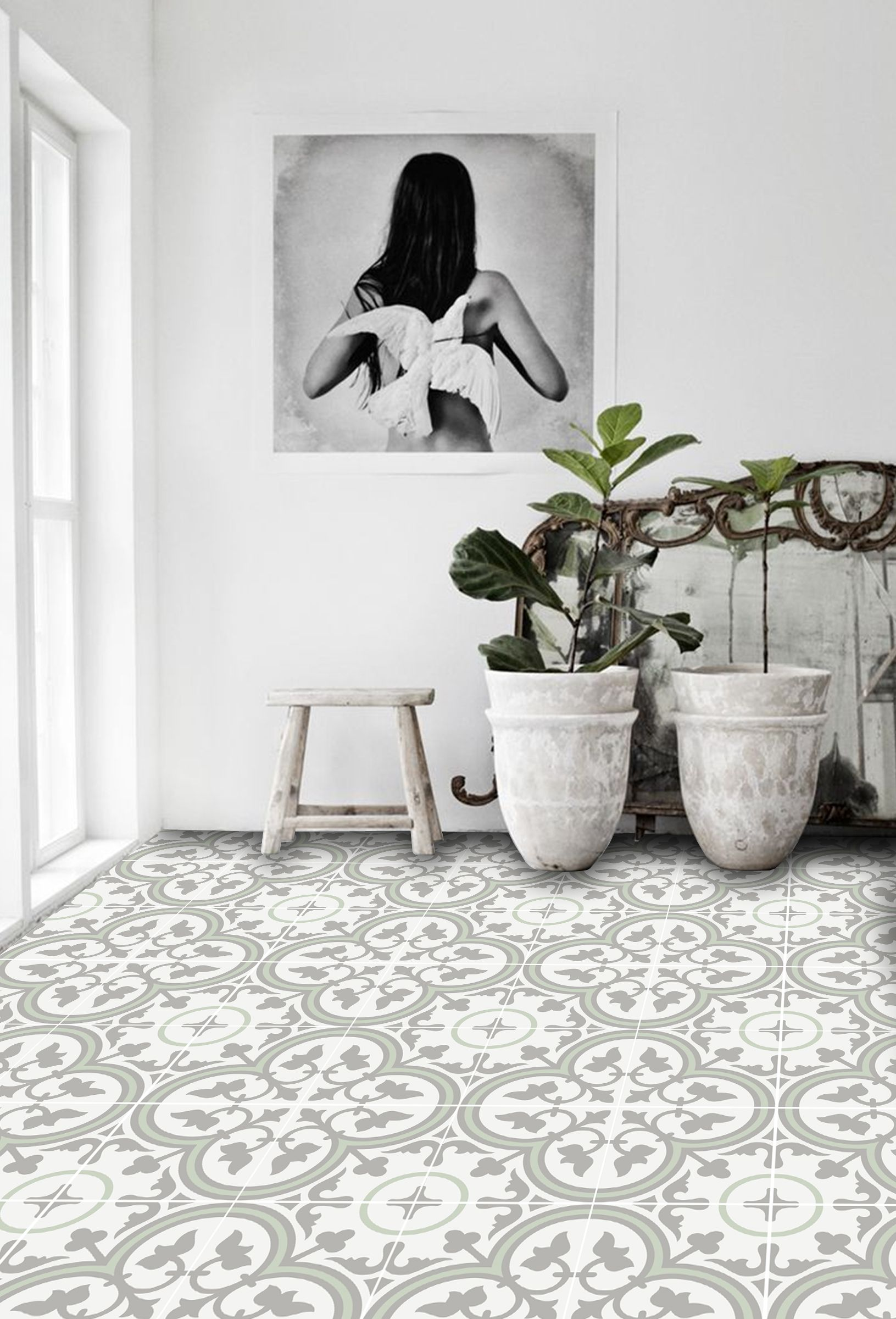 Trefle In Thistle Floor Sticker In 2019 Vinyl Flooring