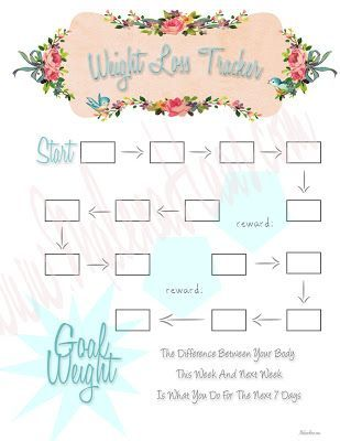 Effortless image for weight loss tracker printable