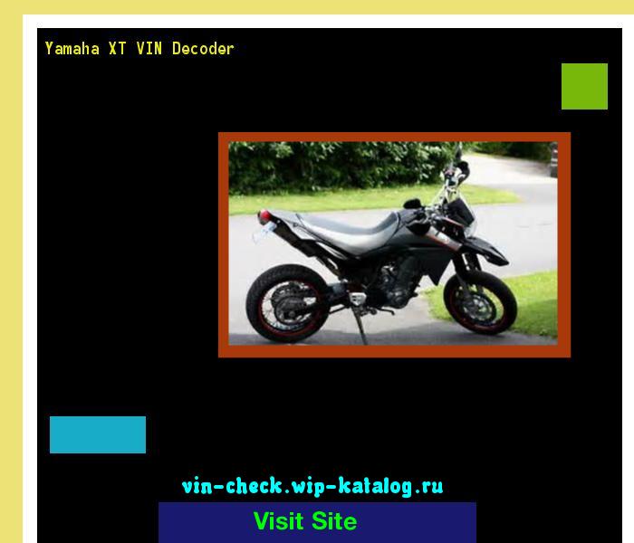 Yamaha XT VIN Decoder - Lookup Yamaha XT VIN number  200238