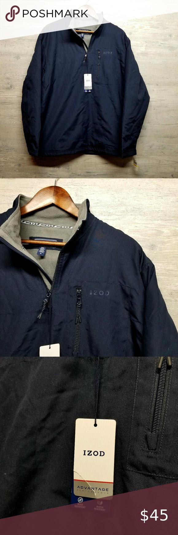 Nwt Izod Advantage Fleece Lined Jacket 125 Msrp Line Jackets Jackets Izod [ 1740 x 580 Pixel ]