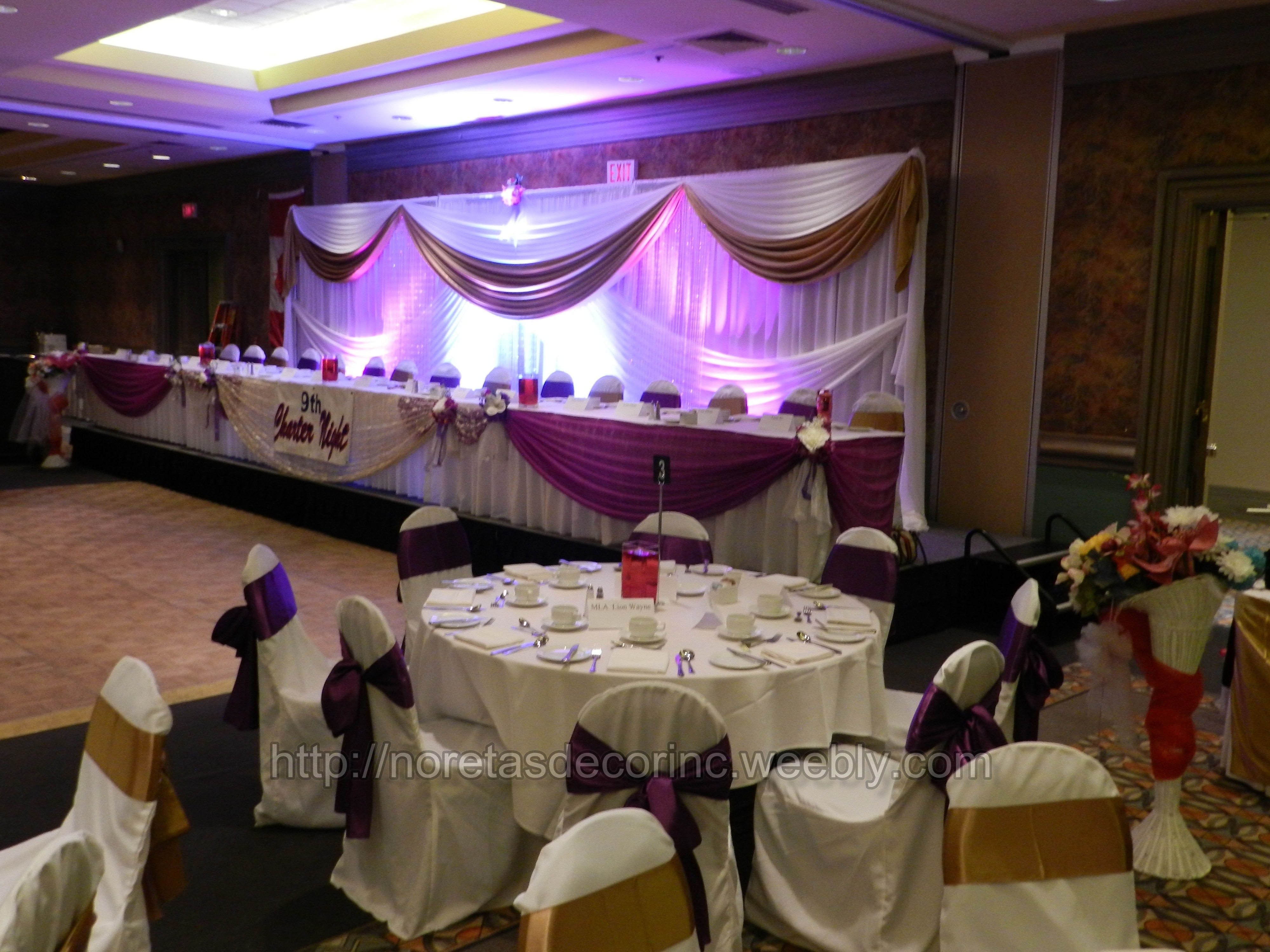 Banquet hall decoration Ideas reception backdrop http