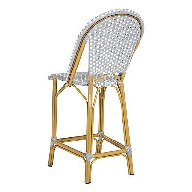 Safavieh Gresley Outdoor Stacking Bistro Counter Stool In Grey/White