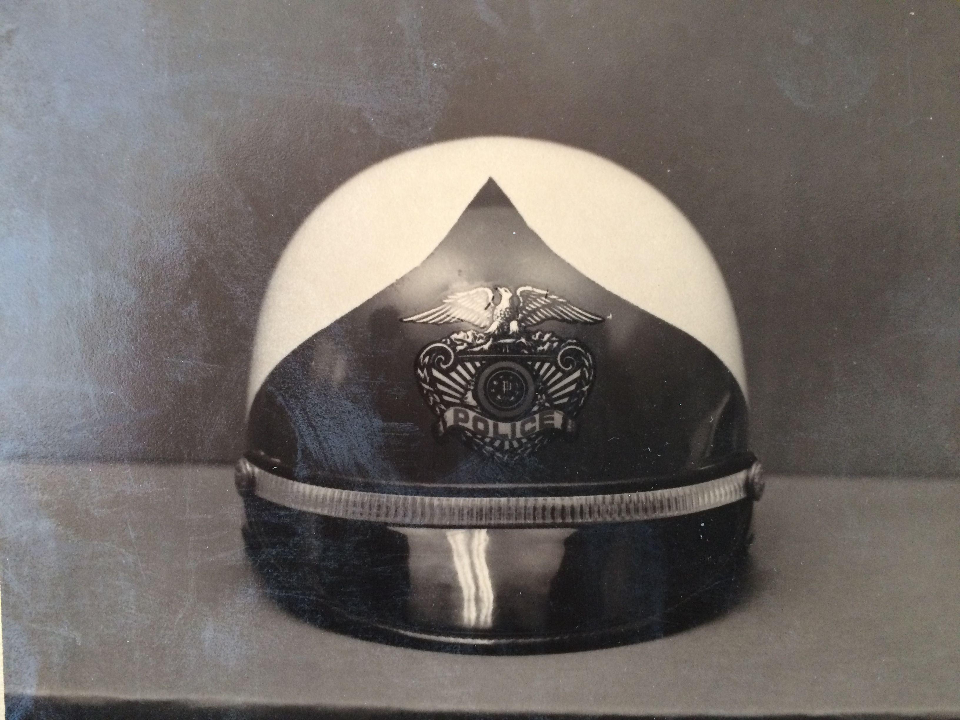 Charlotte Police Department Motorcycle ficers Helmet ca 1960 s