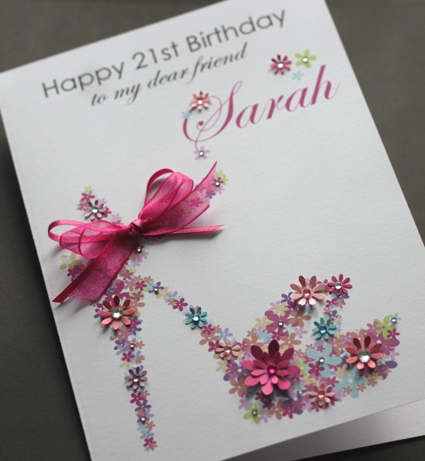 birthday card for friend handmade