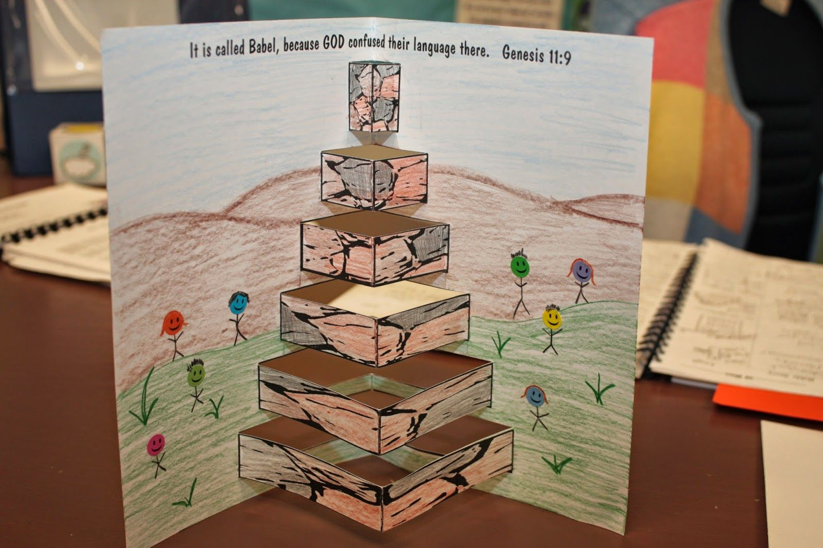 Pop Up Tower Craft For Tower Of Babel In Genesis From Ronda Duval