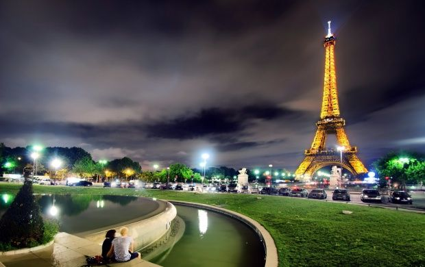 Paris City Night Tower Facebook Covers Timeline Cover