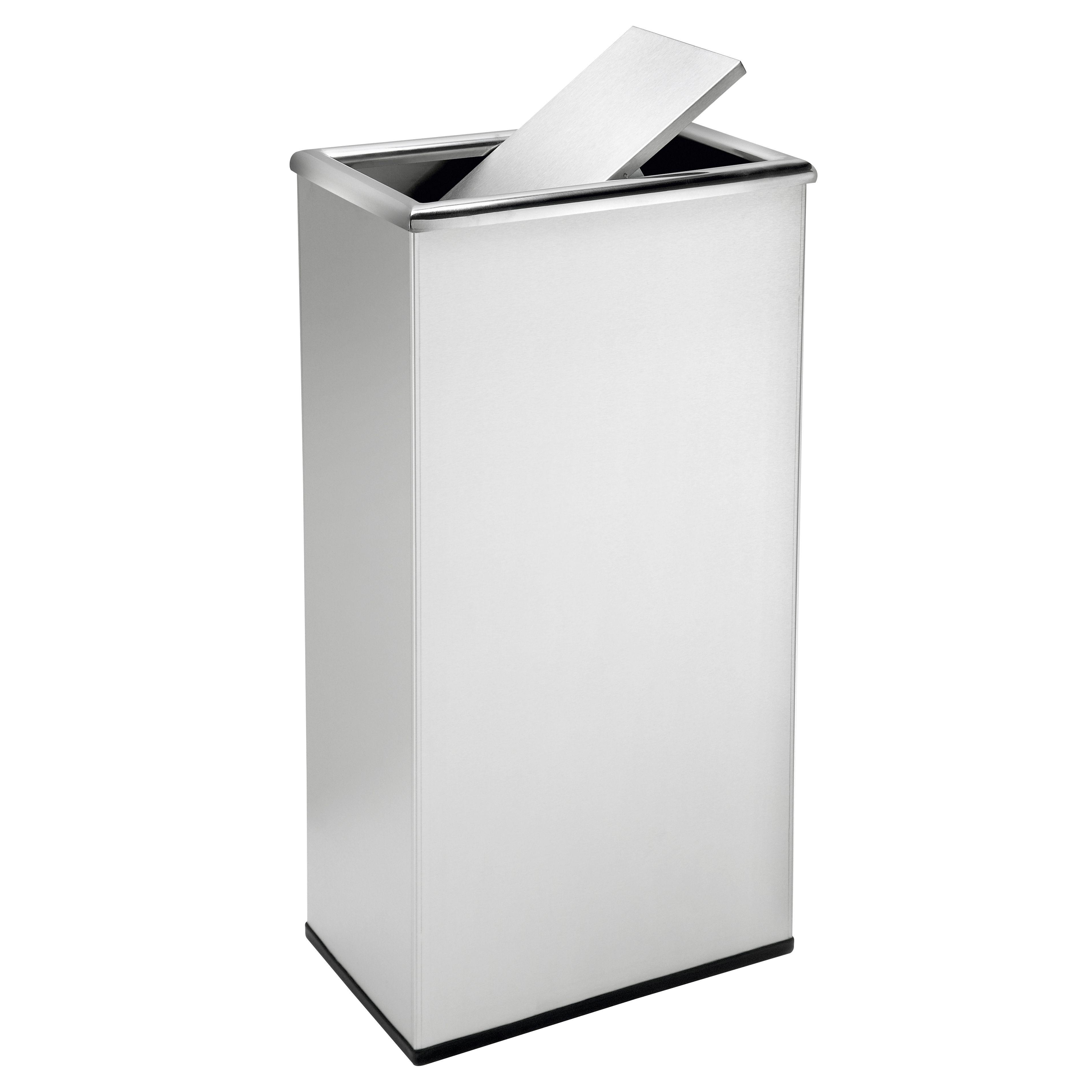 13 Gallon Steel Trash Can Swivel Top Trash Can Trash Can