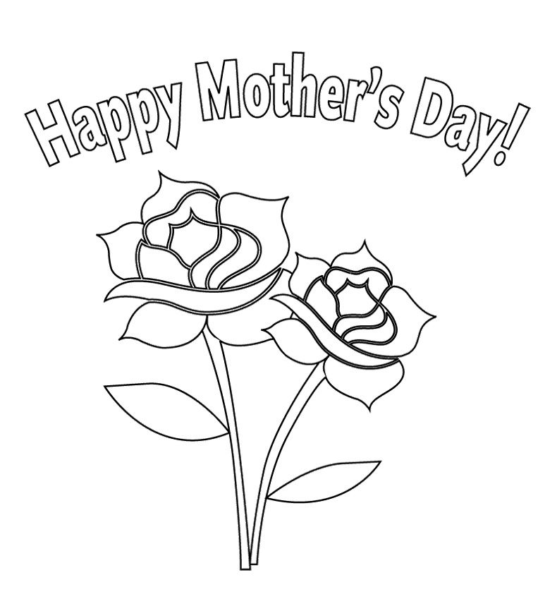 Flower For Mother\'s Day Coloring Page   Kids Coloring Pages   Pinterest