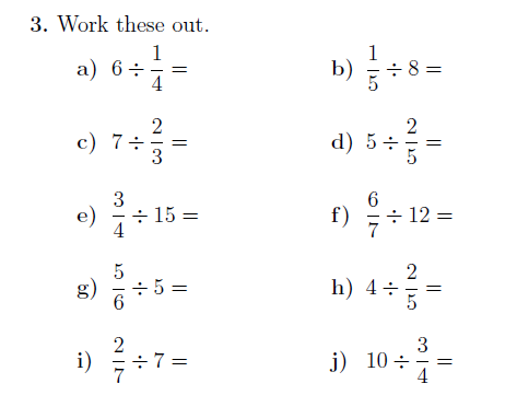 Dividing Fractions And Whole Numbers Worksheet With Solutions Dividing Fractions Fractions Number Worksheets