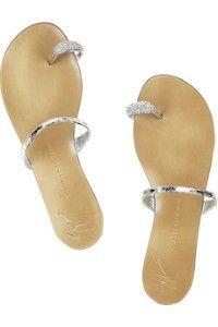 Giuseppe Zanotti crystal embellished sandal #bridal
