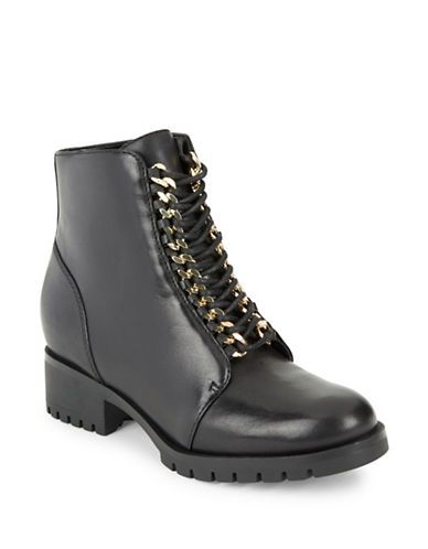 df1488be0de Karl Lagerfeld Paris Bernice Chainlink-Accented Ankle Boots Women s ...