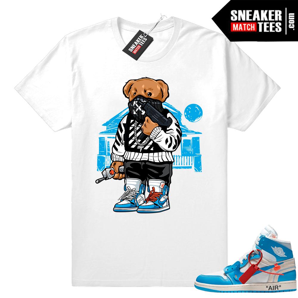 Off White Jordan 1 Unc Powder Blue Sneaker Tees Release Off White Tee Shirt Off White Tees White Jordans