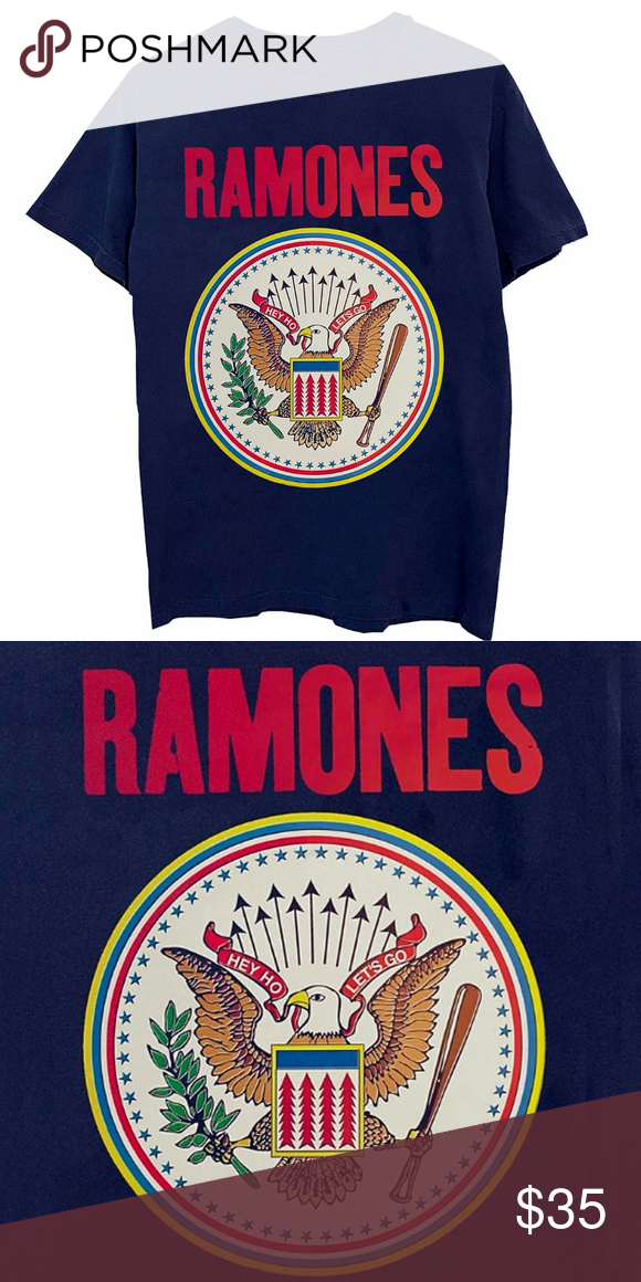 f9689bfd Ramones Colorful Seal punk rock T-Shirt L XL NWT This navy t-shirt ...