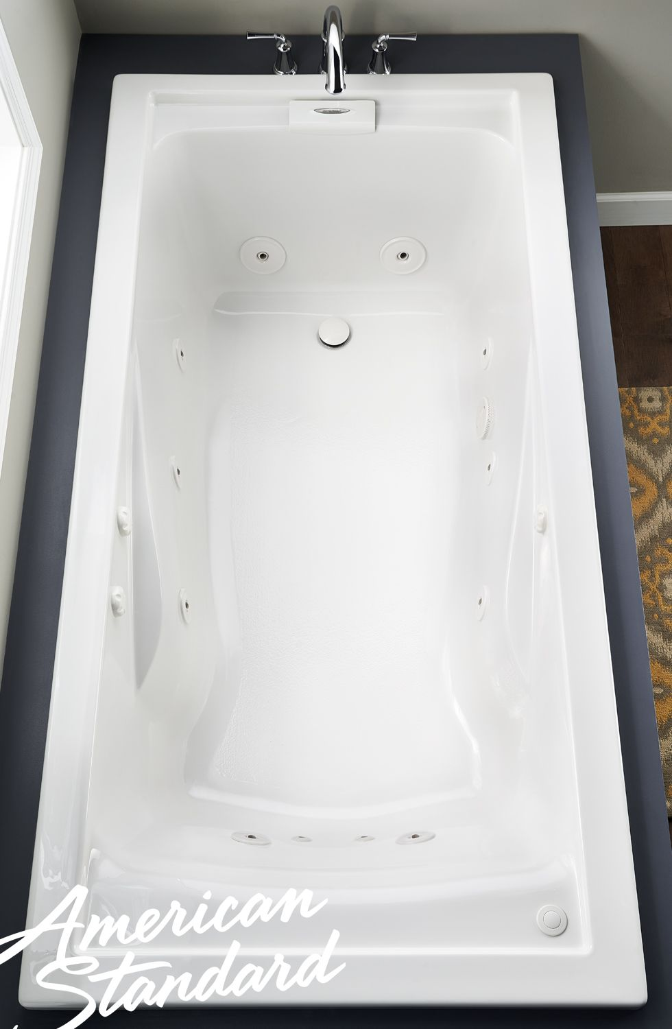 American Standard Champion Xl 6 Ft X 36 In X 21 5 In Whirlpool Tub In White 7239lch 020 The Home Depot Whirlpool Tub Tub American Standard