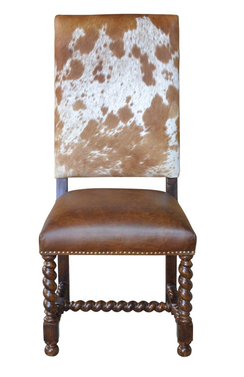 Barley Twist Cowhide Dining Chair John Proffitt Cowhide Chair