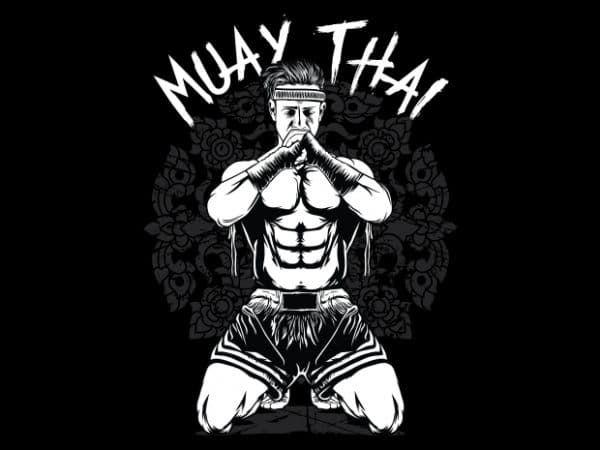 Muay Thai tshirt design vector - Buy t-shirt designs | Muay thai, Muay thai  art, Tshirt designs