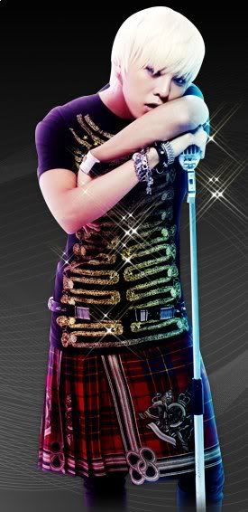 G Dragon in a kilt.  I can't believe I'm saying this, but that's pretty awesome looking!