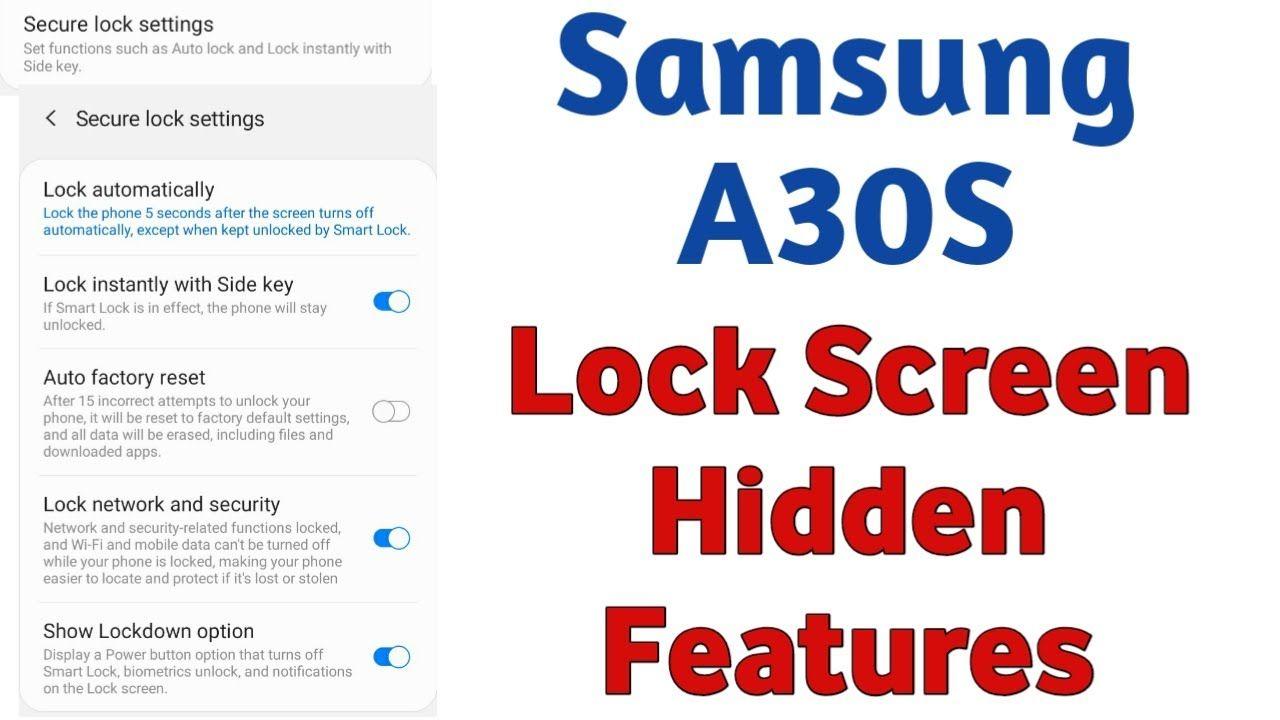 Samsung A30s Lock Screen Hidden Features Samsung Mobiles Lock Screen H Samsung Mobile Samsung Smart Lock