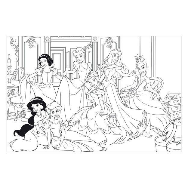 Kleurplaat Disney Prinsessen Kleurplaten Disney Disney Princess