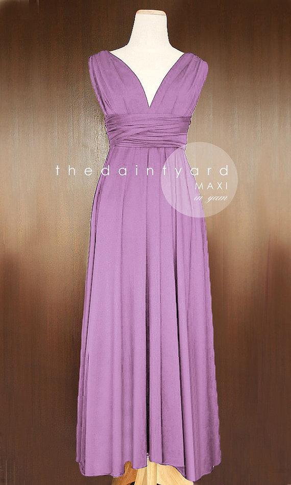 Bridesmaid dress Lavander Bridesmaid dress Lavander Maxi Bridesmaid Dress Prom Dresses Party Dress Infinity Dress Pink Floor Length Dress