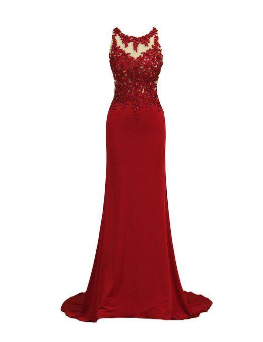 LovingDress Women's Prom Dresses Scoop Sheath
