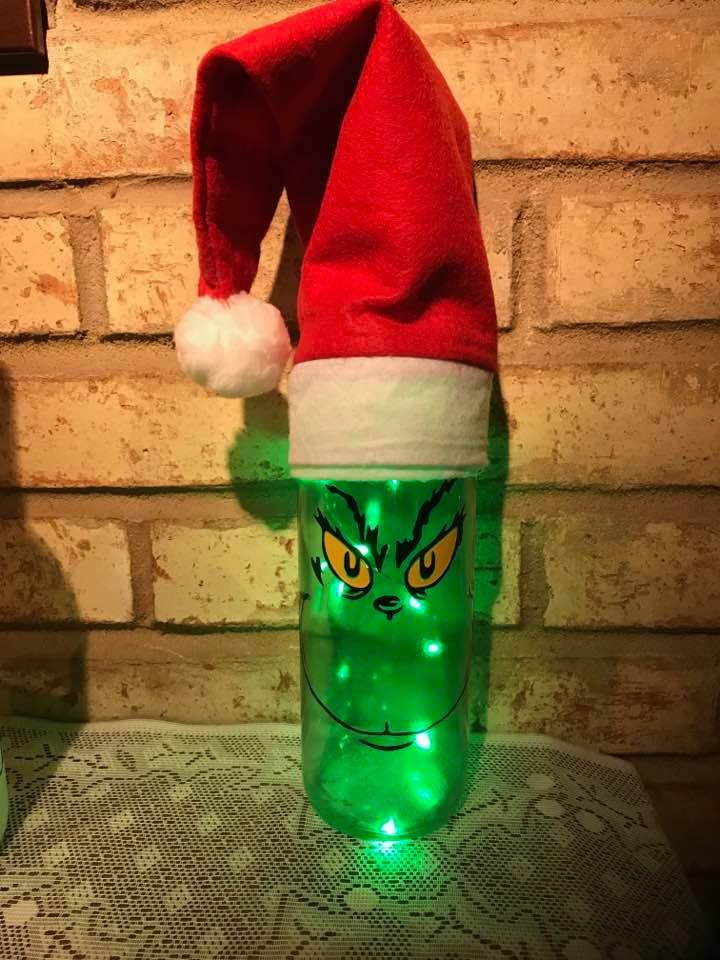 How The Grinch Stole Christmas Light Up Green Led Wine