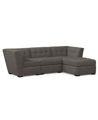 Elegant Roxanne Fabric Modular Sectional Sofa 3 Piece Square Corner Unit Armless Chair and Chaise Sectional Sofas furniture Macy s Review - Model Of square sectional sofa Review