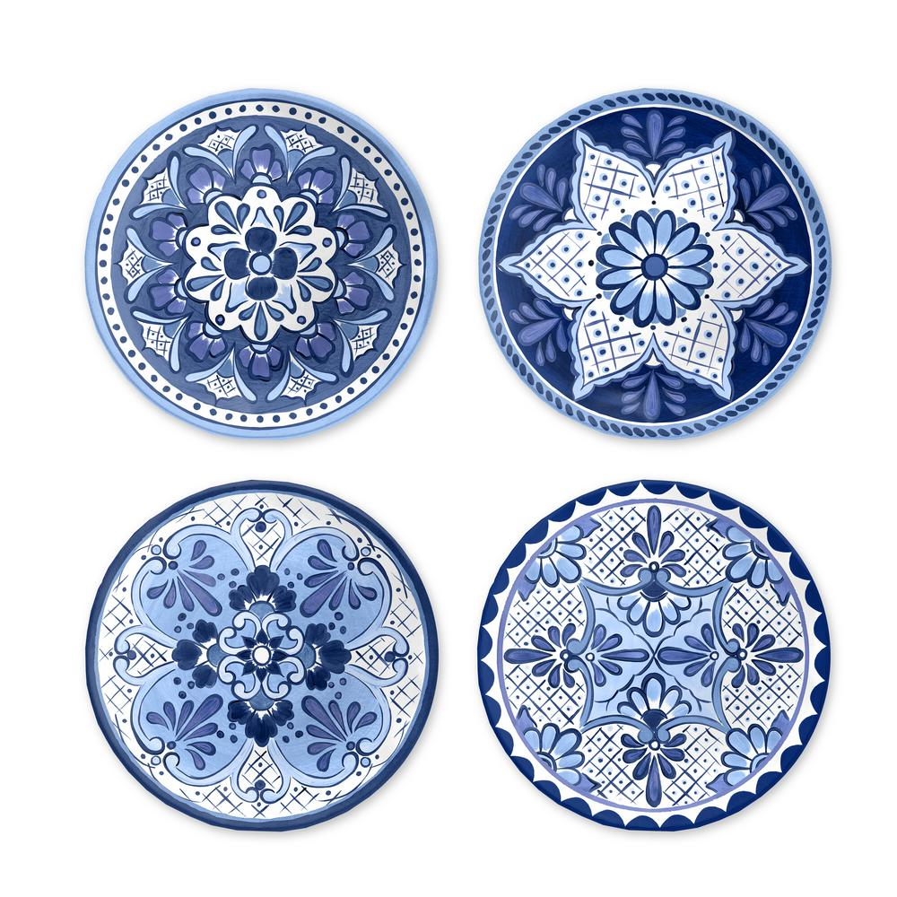 Mismatched Blue And White China Salad Plates Set Of 4 Dessert Plates Blue Transferware China Plates Bridal Luncheon Replacement China Blue And White China Blue Transferware White China