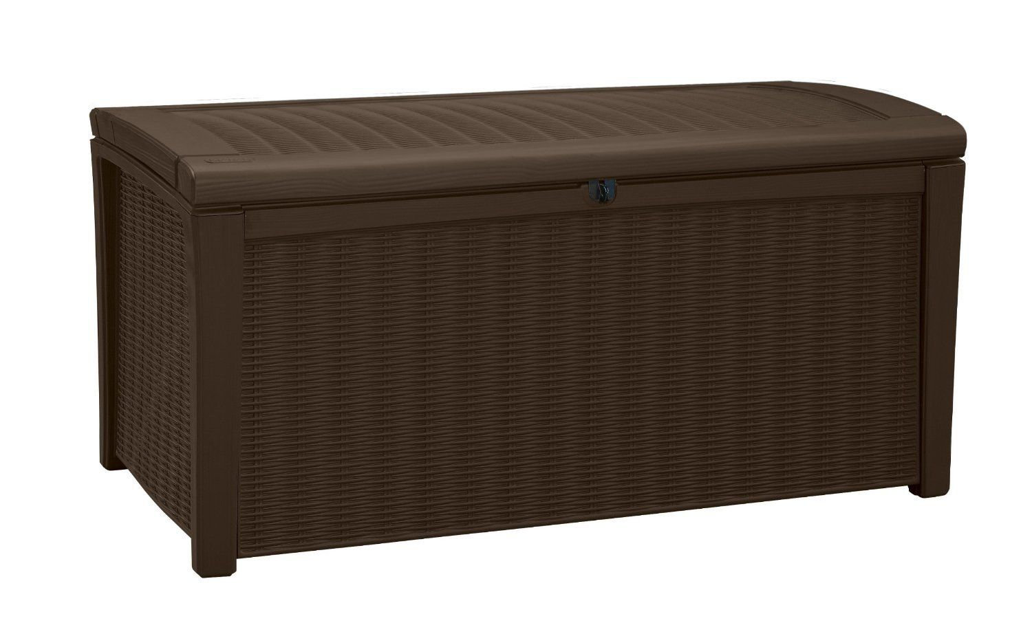 Deck Box For Patio Pool Storage Bench In Resin 110 Gallon Extra