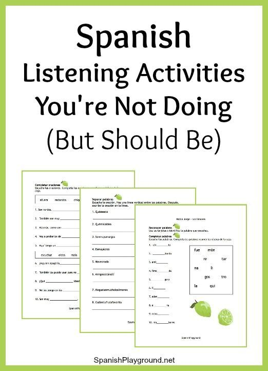 Spanish Listening Activities You Re Not Doing But Should Be With
