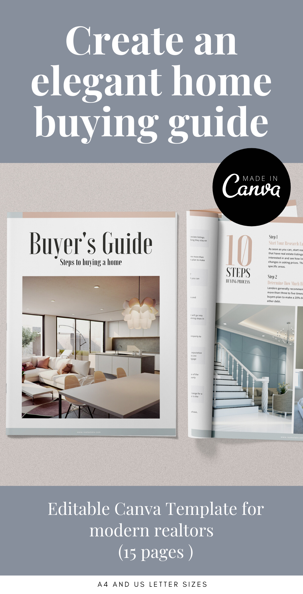 Buyers Guide Template Real Estate Presentation Canva ...