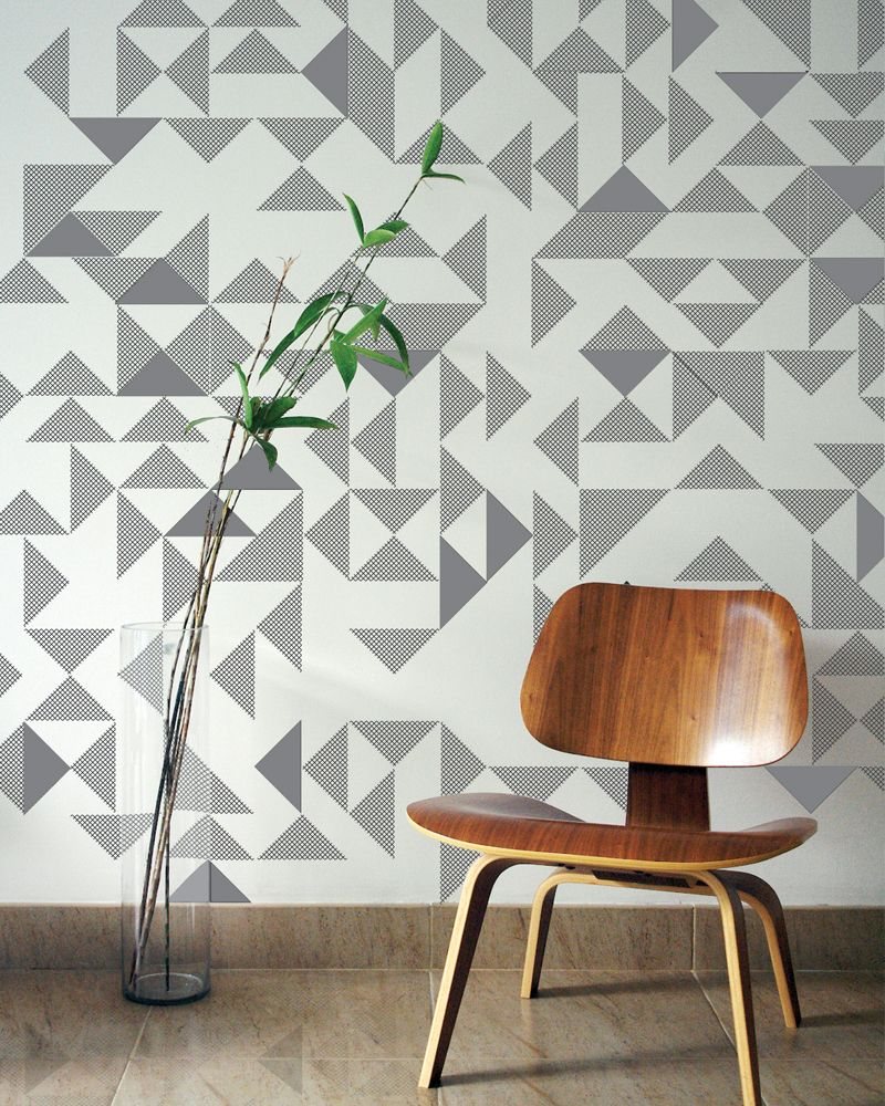 Hand Block Printed And Embroidered Wallpaper By Custhom In The UK Textured Graphic