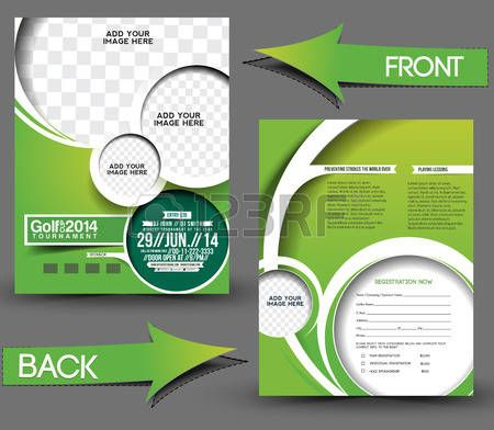 icon golf torneo di golf front back flyer template giuseppe