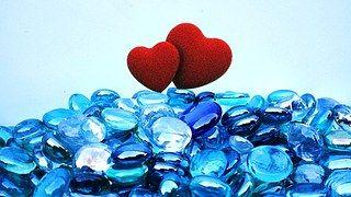 Zwei Herzen, Rot, Herz, Liebe, Symbol