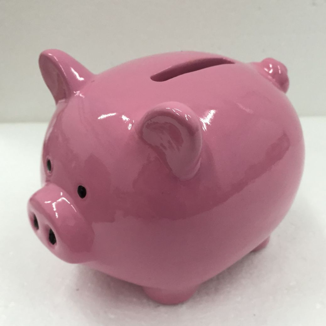 Novelty Ceramic Fish Piggy Money Bank With Lock Griser