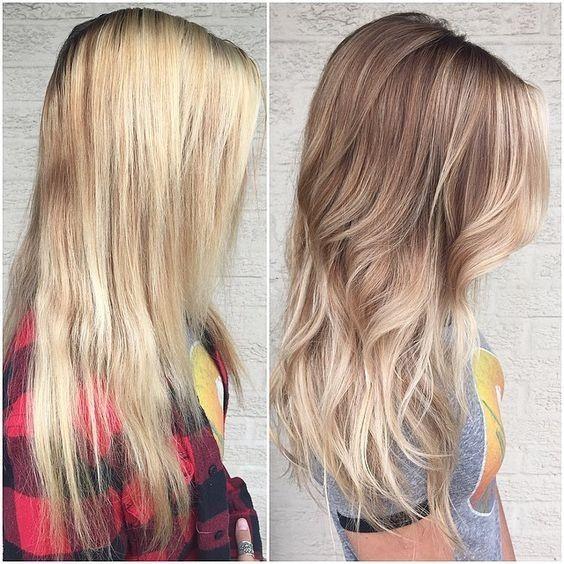 Winter hair Beached Blonde - Oribe Bright Blonde Balayage Hairstyle