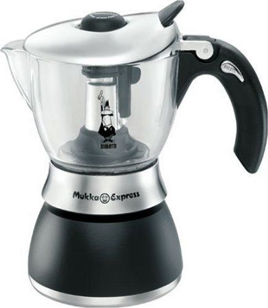 Bialetti Mukka Express ~ Clear on top so you can watch it! I