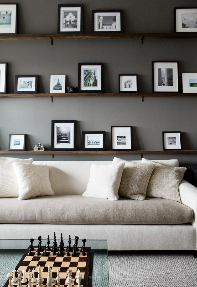 5 Fabelhaft Bilder Von Wohnzimmer Regal Über Couch  Weiße zimmer