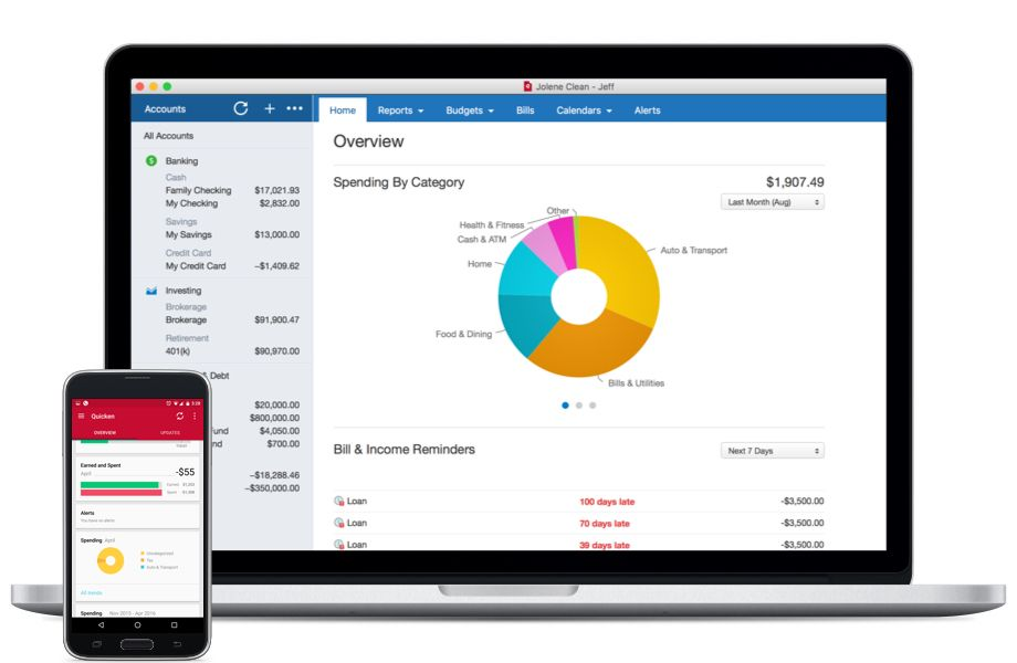 Quicken 2017 available for macOS iOS Windows Android OS