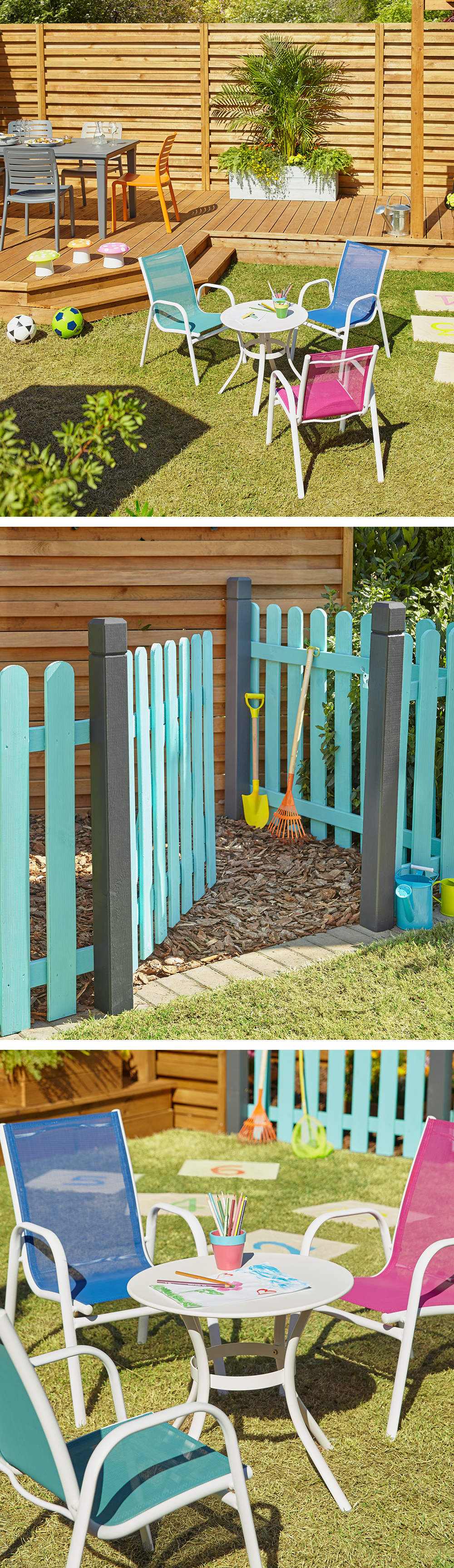 Beautiful Paint Fences Bright Colours To Section Off A Childrenu0027s Area In Your  Garden. Add Some