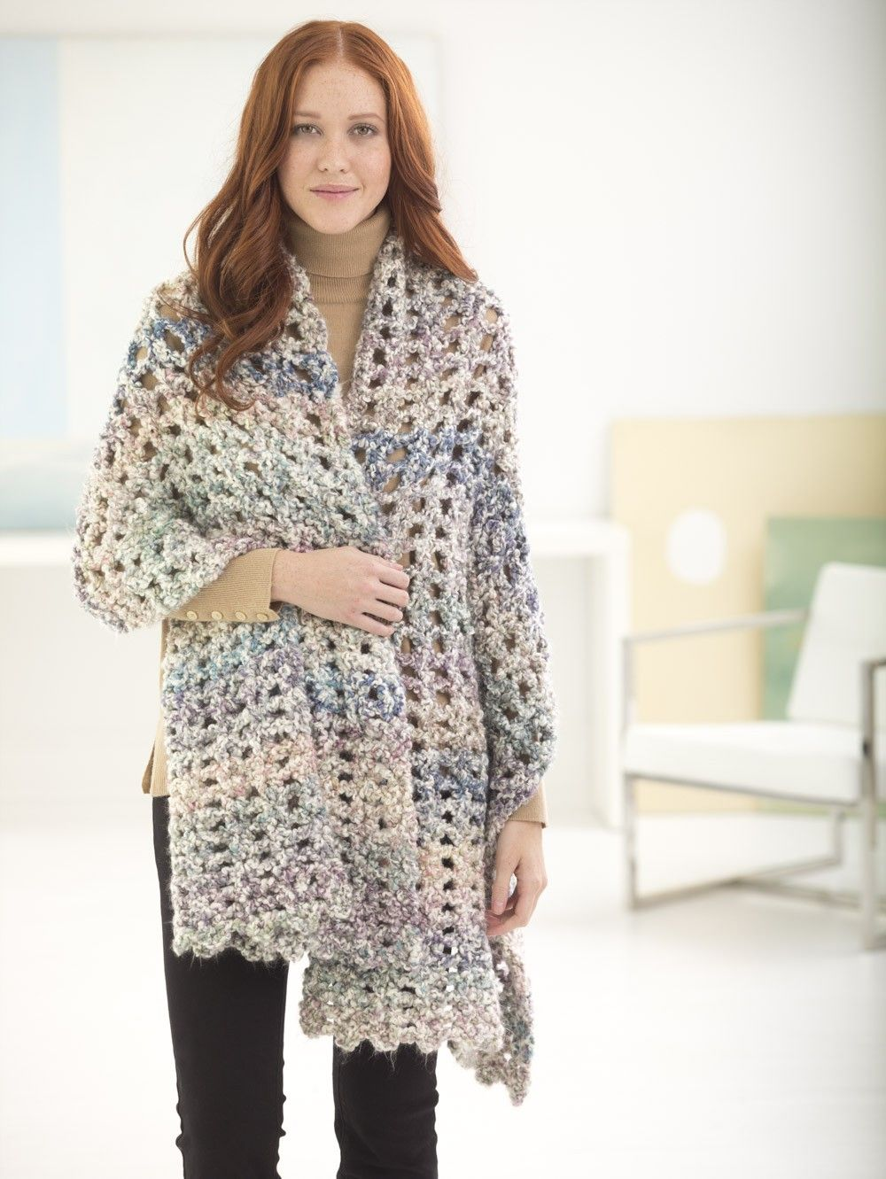Free Pattern: Gentle V Stitch Shawl | crochet | Pinterest | Ponchos ...