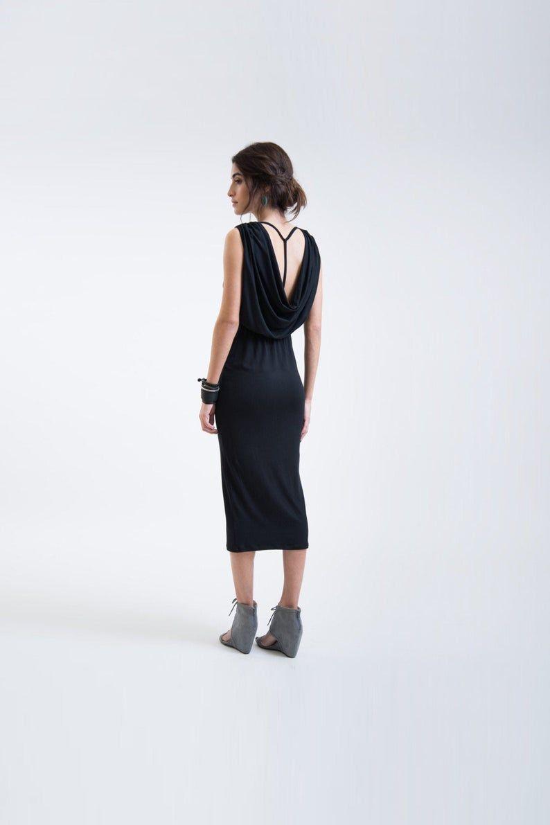 V Back Dress Open Back Dress Black Open Back Dress Backless Etsy Low Back Dresses Dress Backs Open Back Dresses [ 1191 x 794 Pixel ]