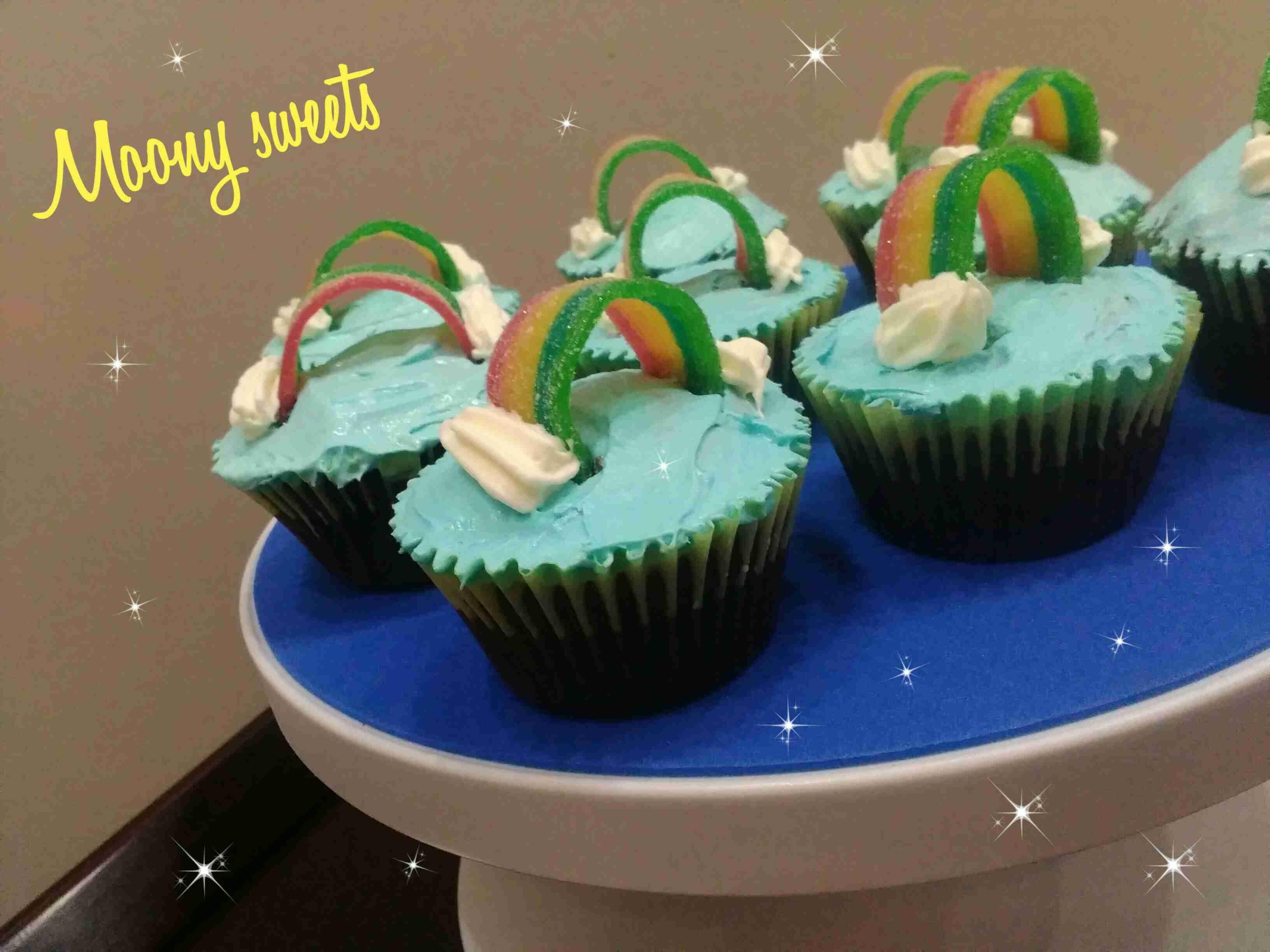 كب كيك غ شكل قوس قزح للاطفال اوردر اليوم زاكي Desserts Food